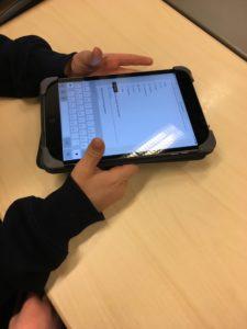 iPad-työskentelyä